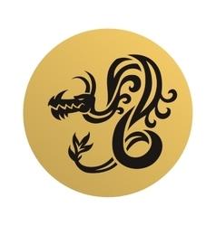 Dragon face vector image