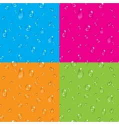 Set of transparent water drops seamless vector image
