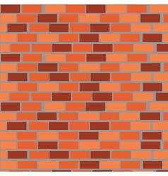 Wall of red bricks vector