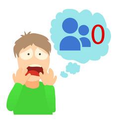 autophobia concept cartoon vector image