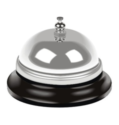 bell on table vector image vector image