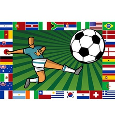 Championship South Africa soccer cup poster vector image