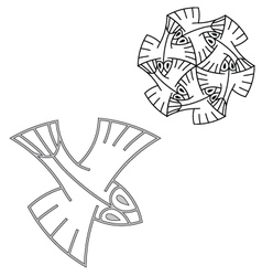 escher01 vector image vector image