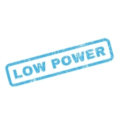 Low Power Rubber Stamp vector image vector image