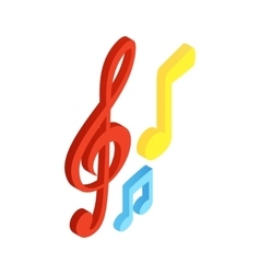 Music notes isometric 3d icon vector image vector image