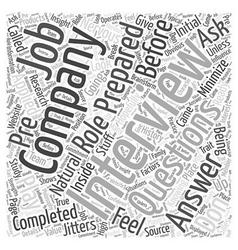 Preparing for a job interview word cloud concept vector