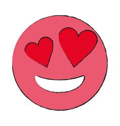 Smiling heart eyes emoji icon image vector