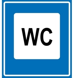 Toilet road sign on white background vector image vector image