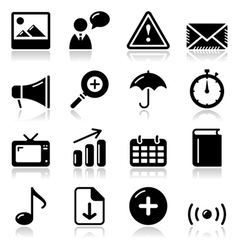 Website internet glossy sqaure icons set vector image
