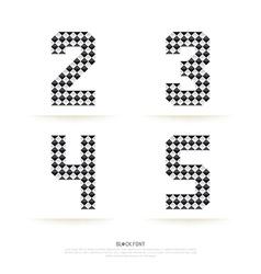 Alphabet set block style vector image vector image