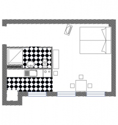bedroom sketch plan vector image
