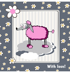 Card with love dog vector image vector image