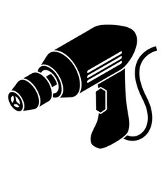 corded drill icon simple style vector image