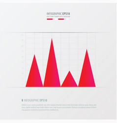 graph and infographic design pink color vector image