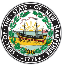 New Hampshire Seal vector image