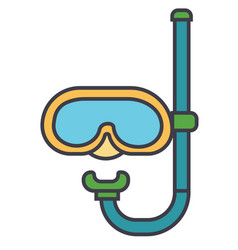 diving mask flat line concept vector image