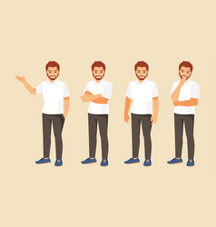 man in different poses vector image