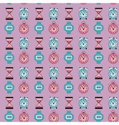 Retro clocks pattern vector image