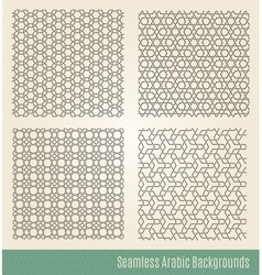 Set of Seamless Islamic backgrounds vector image vector image