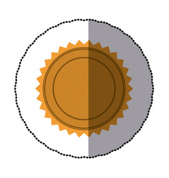 sticker of silhouette with circular frame and vector image vector image