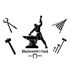 Vintage blacksmith vector image