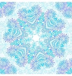 Vintage blue invitation decoration vector image