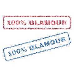 100 percent glamour textile stamps vector