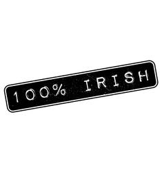 100 percent irish rubber stamp vector