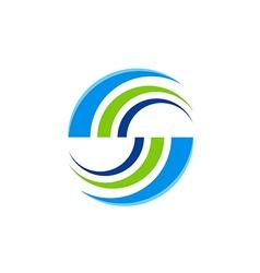 Abstract round balance color logo vector