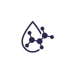 Acid drop icon vector