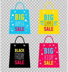 advertising shopping bags black friday sale vector image