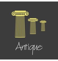 Antique column symbols simple business banner vector