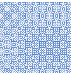 Arabic seamless blue pattern ramadan kareem vector