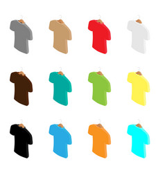 big t-shirt template collection different vector image