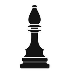 Black bishop icon simple style vector