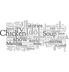 Book review chicken soup for the american idol vector