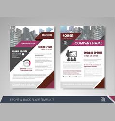 Business brochure cover design vector