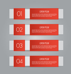 Business infographics template red color vector