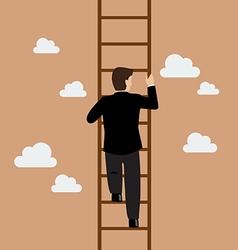 businessman climbing ladder vector image