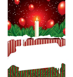 Christmas background with copy space vector
