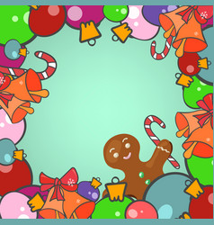 christmas decoration frame vector image
