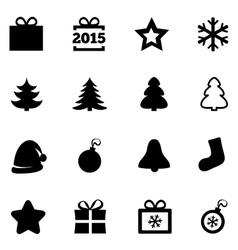 Christmas icons New Year 2015 symbols vector image