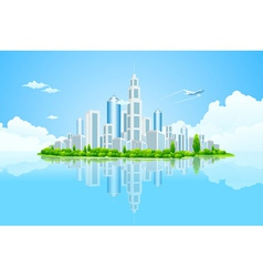 city landscape island vector image