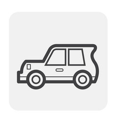 classic car icon vector image