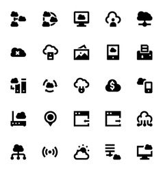Cloud Data Technology Icons 7 vector