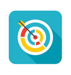 Colored target icon vector