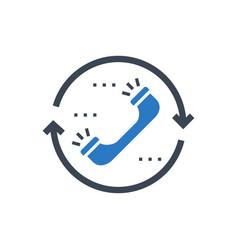 Contact glyph icon vector