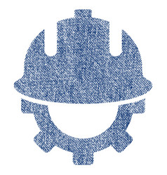 Development helmet fabric textured icon vector