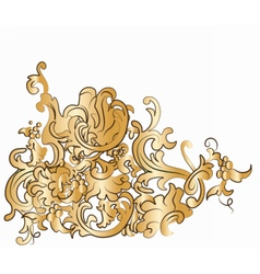 Dramatic fall of baroque style vector