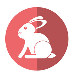 easter bunny cute symbol shadow vector image